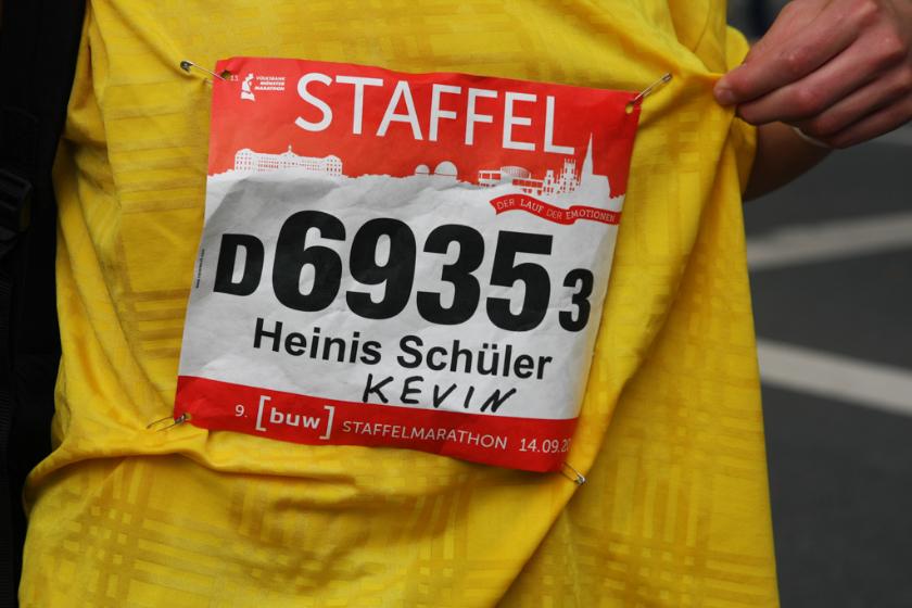 """1914 sind """"Heinis Schüler"""" zum 2. Mal beim Staffelmarathon in Münster gestartet."""