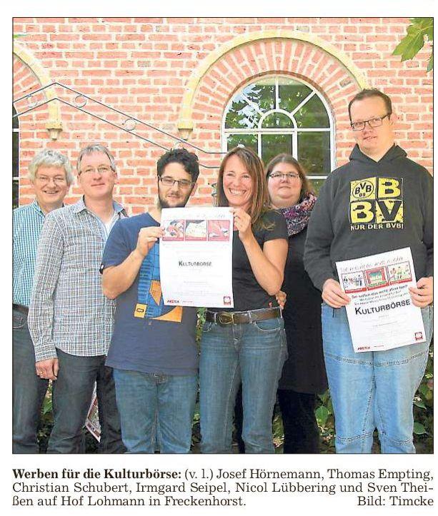 """Die Projektgruppe, Foto aus der Tageszeitung """"Die Glocke"""""""
