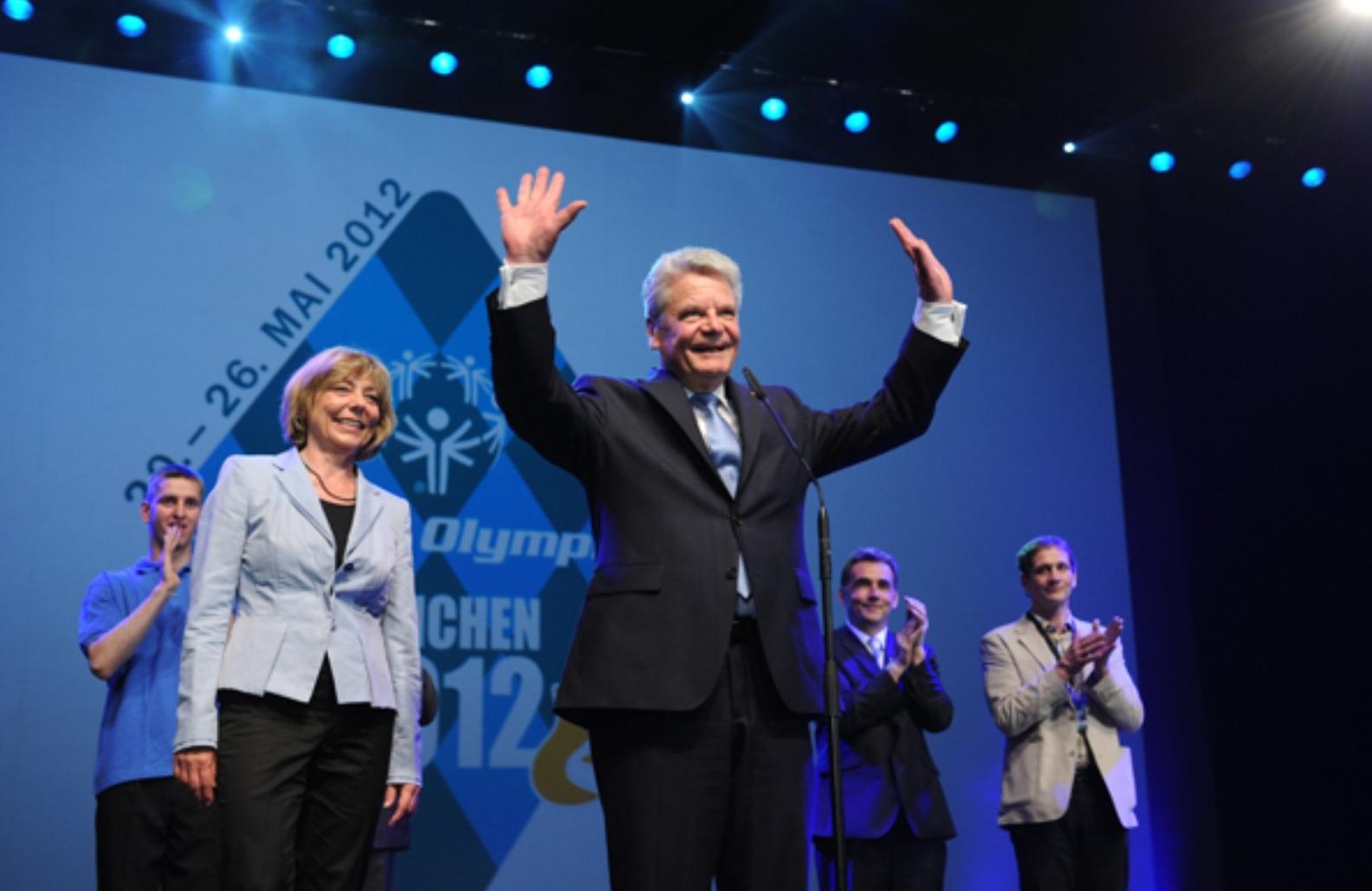 2012 hat Bundespräsident Gauck die Special Olympics eröffnet