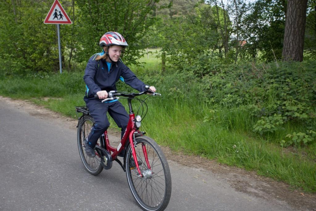 Sarah ist die Jüngste unter den Athleten der Heinrich-Tellen-Schule. Aber in ihrer Altersklasse kann sie schon weit kommen.